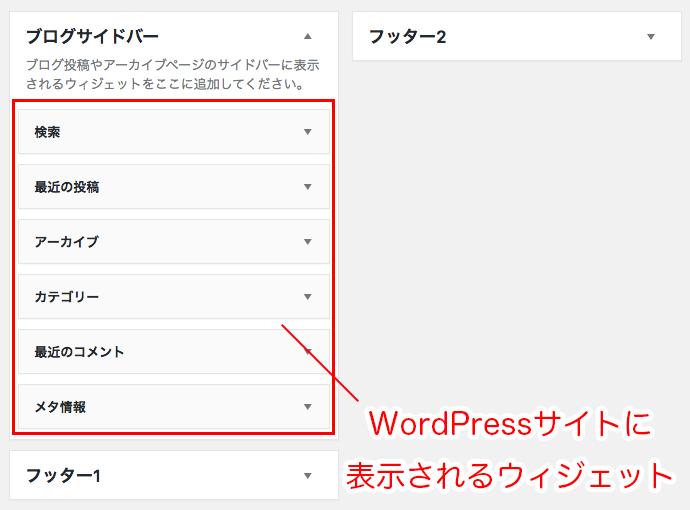 WordPressサイトに表示されるウィジェット
