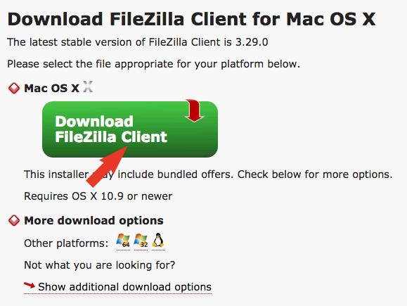 FTPソフト(FileZilla)をダウンロード