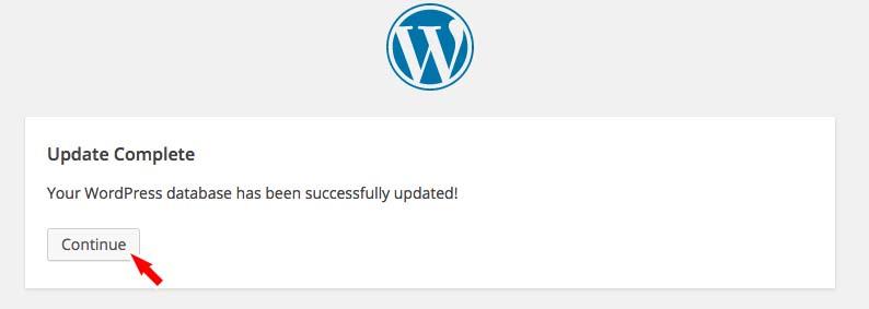 データベースの更新が成功した