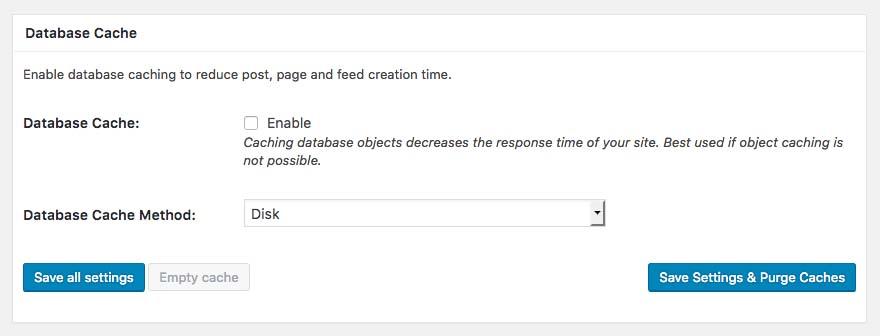 Database Cacheの設定