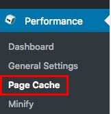 Page Cacheの詳細設定を行う