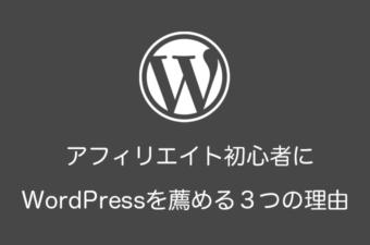 アフィリエイト初心者にWordPressをおすすめする3つの理由