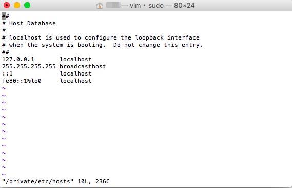 hostsファイルが開く